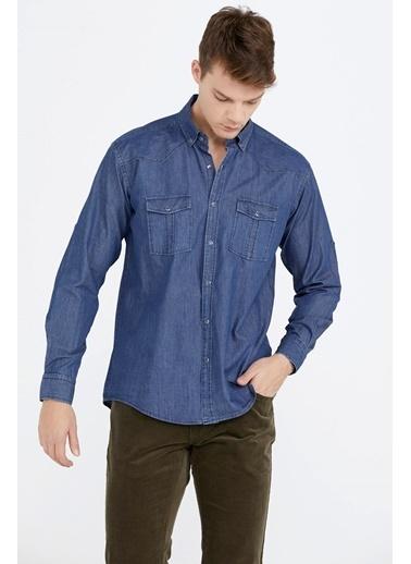 Sementa Erkek Uzun Kollu Denim Gömlek - Lacivert Lacivert